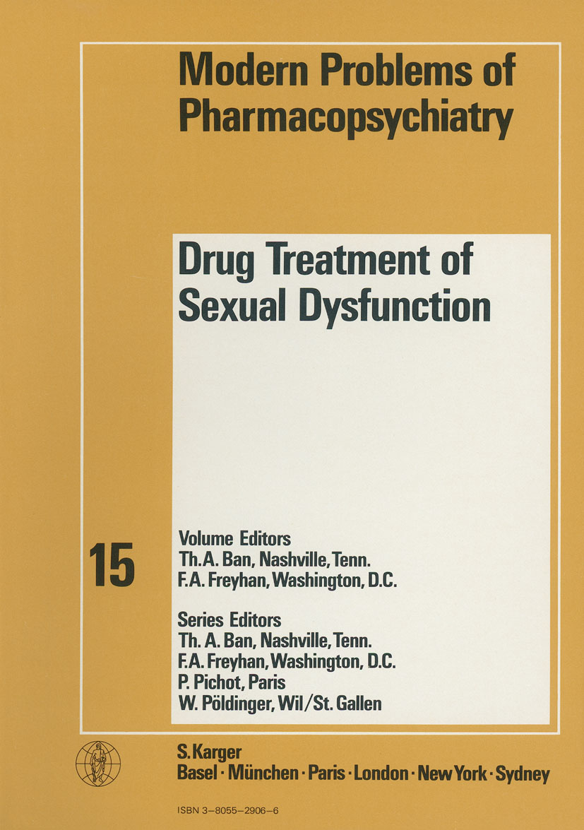 drug treatment of sexual dysfunction karger publishers