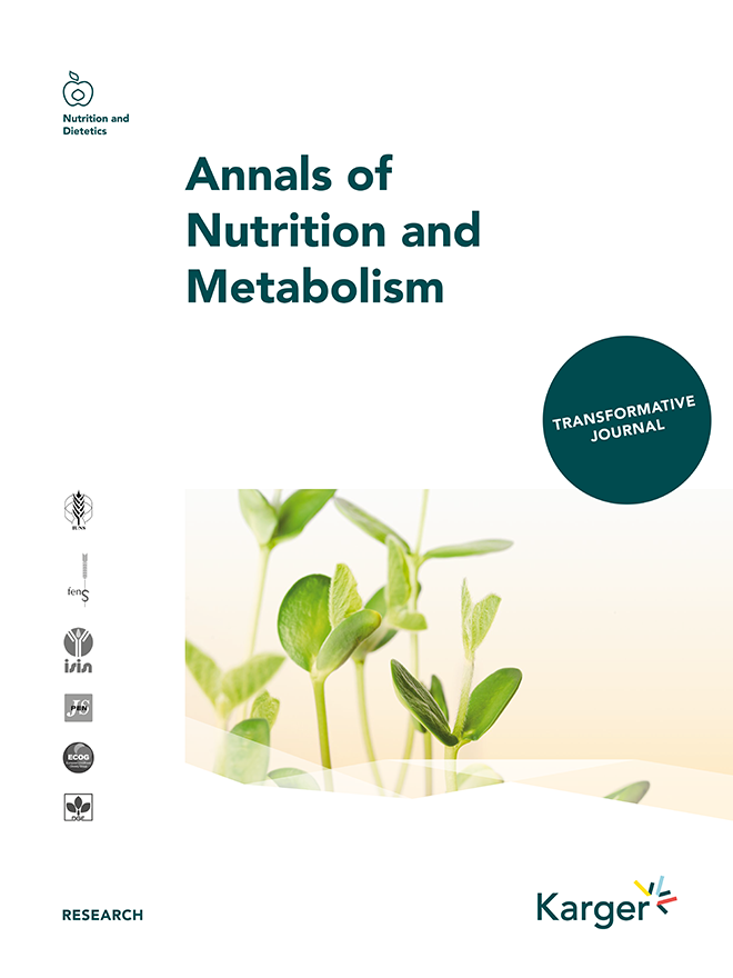 Annals of nutrition and metabolism home karger publishers annals of nutrition and metabolism fandeluxe Gallery