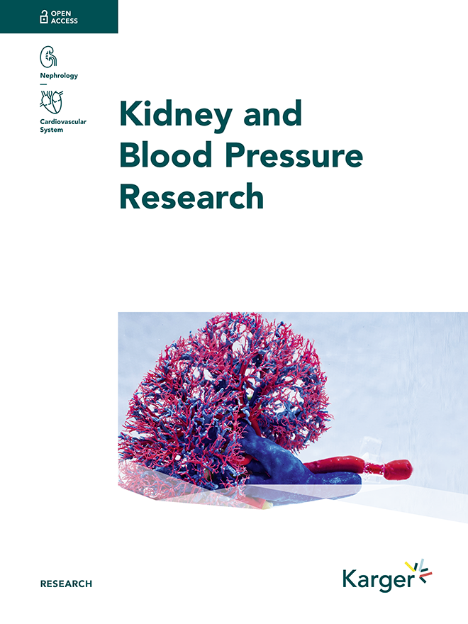 Kidney and Blood Pressure Research - Home - Karger Publishers