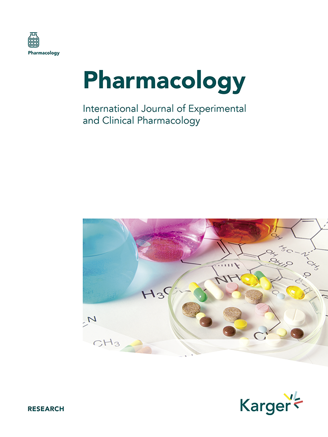 Pharmacology - Home - Karger Publishers