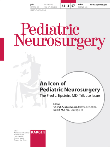 An Icon of Pediatric Neurosurgery - Karger Publishers