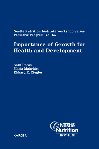 importance of growth for health and development karger publishers